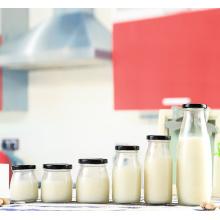 Glass bottle for milk bar