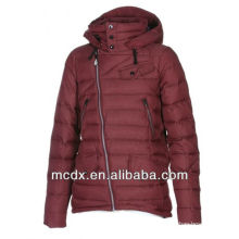 ultralight shiny women down feather jacket