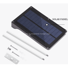 Lampadaires solaires à détecteur de mouvement à LED