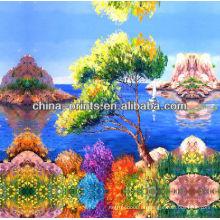 Pintura a óleo Handmade colorida da lona do lago à venda