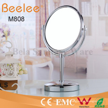 Miroir de loupe de maquillage de salle de bain double face rond ajustable