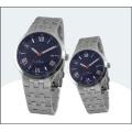 Aço inoxidável de primeira qualidade par relógio, relógio de quartzo 15178