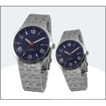 High-Grade Stainless Steel Couple Watch, Quartz Watch 15178