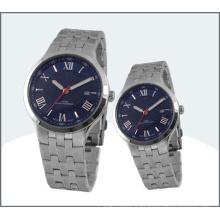 Hochwertige Edelstahl Paar Uhr, Quarzuhr 15178