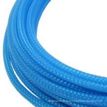 Sleeving da trança do cabo do Aqua Blue 10mm