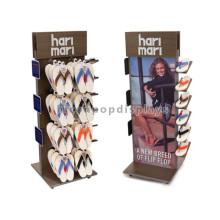 Schuhe Einzelhandel Einzelhandel Stand Standing 4-Caster Rolling Wooden Shop Merchandising Ausrüstung zum Verkauf