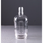 750ml Transparent Glass Liquor Bottle Square Shape