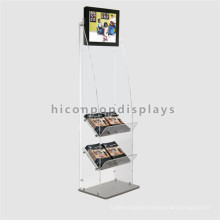Custom 3-Tier 7 Inch Lcd Advertising Retail Store Book Promotional Vertical Digital Signage Display Stand