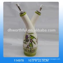 Bouteilles en gros d'huile d'olive décorative, distributeur céramique d'huile d'olive