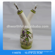 Wholesale decorative olive oil bottles,ceramic olive oil dispenser