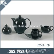 La porcelana modificó el sistema de té doble negro barato de la felicidad 15pcs