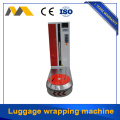 Luggage case wrapping machine with stretch film packing