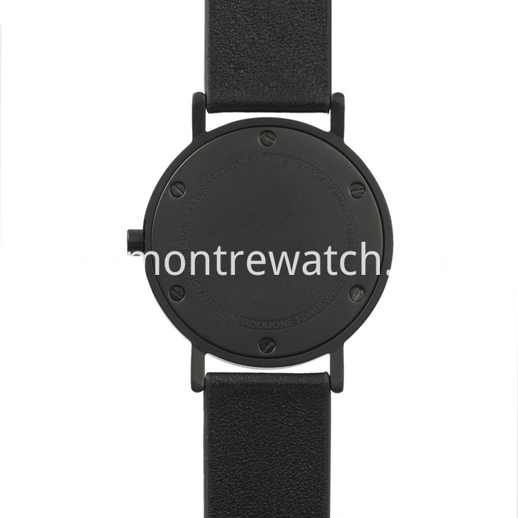 mans watch with Matte Black Case