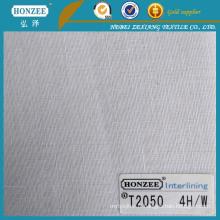 T2050 tissé interlignage pour chemise