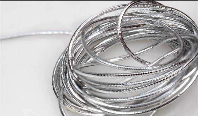 Large quantity silver rope