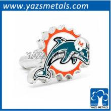 abotoaduras de designer customiz, abotoaduras de golfinhos personalizados de Miami