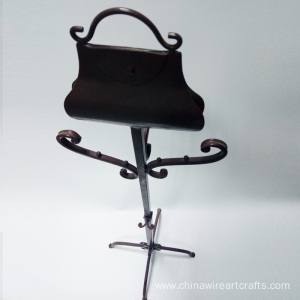 Metal Children Cloth Rack Brown Home Decoration