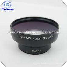 Lente grande da câmera 58mm lente grande angular UV67 0.45X