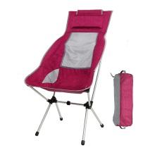 Outdoor Folding High pillow Camping Chair
