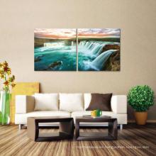 Interior de la sala de estar pared decorativa de pared de pintura de plantillas