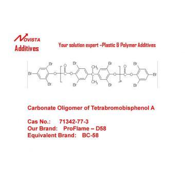Phenoxy-terminated carbonate oligomer of Tetrabromobisphenol-A D-58