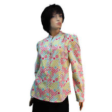 Women's Blouse with 100% Cotton Body Fabric