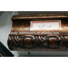 Moldura de madeira sólida moldura de espelho lateral
