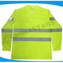 ANSI aprobó manga larga camisa de seguridad Clase 3