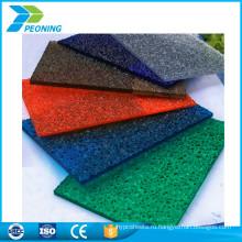 Исключительных поверхности зерна твердого листового пластика рассеиватель из поликарбоната