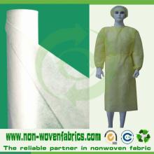 Pano não tecido descartável para vestidos cirúrgicos
