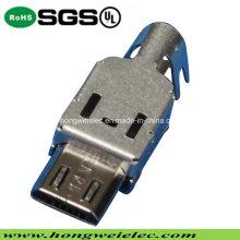 B Typ Männliche Dreiteilige Steckdose Micro USB Stecker