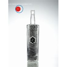Botella decorativa de la etiqueta de la cebra del vidrio de esmaltado