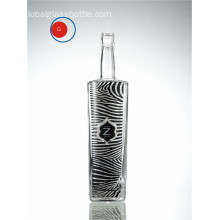 Verglasung Glas Wodka Zebra dekorative Label Flasche