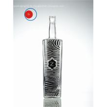 Verglasung Glas Wodka Zebra dekorative Label Flasche