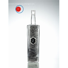 Glazing Glass Vodka Zebra Decorative Label Bottle