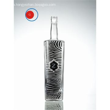 Glazing Glass Vodka Zebra Decorative Label Bottle