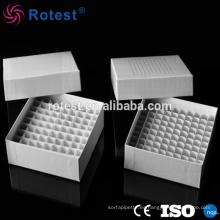 Congelador de cartón de 81 pocillos para tubo criovial de 5 ml