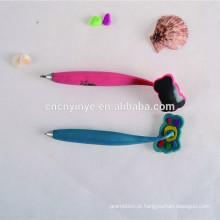 Giro 3D Pvc borracha caneta magnética para crianças