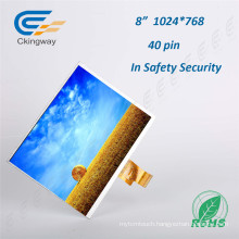 8 Inch 300 CD/M2 40pin Touch Screen Display