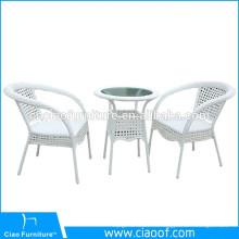 Шестиугольный Стол 2-Местный Набор, Используемый В Кафе Поли Ротанга Мебель Ресторана