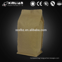 high quality doypack kraft paper bag/kraft paper coffee bean packaging bag