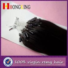 Extensão de contas duplas de micro anel de cabelo Remi