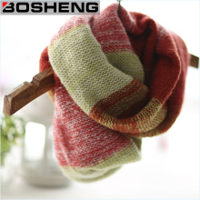 Women Winter Acrylic Contract Knitted Soft Shawl Infinity Scarf