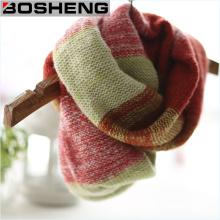 Frauen Winter Acryl Vertrag gestrickt weichen Schal Infinity Schal