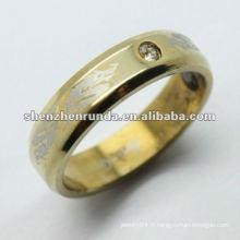 Plateau en or et anneaux en or gravés pour hommes