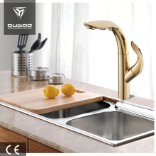 Unique Table Top Pullout Golden Kitchen Faucet Taps