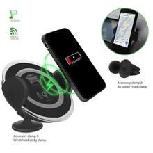 Holiday sales for Wireless Car Charger Cars Phone Holder Wireless Quick Charging Mobile Chargers export to Russian Federation Factories