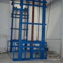 Ascenseur hydraulique d'ascenseur de cargaison de rail de guide de chaîne