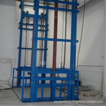 Elevador hidráulico del elevador de la carga del carril de la guía de cadena