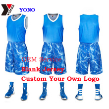 Uniforme de baloncesto sublimado Custom Print Basketball Wear Hombre Camiseta deportiva 100% poliéster